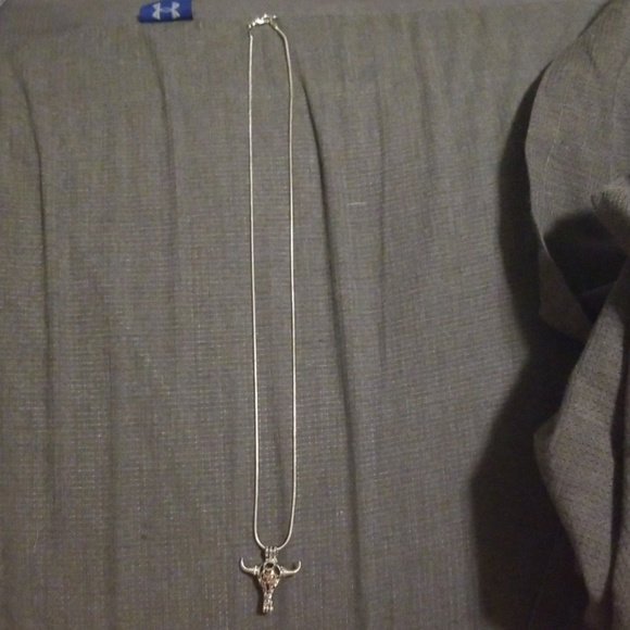 Jewelry - Bull Skull Pearl Pendant Necklace